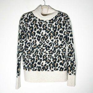 Ann Taylor LOFT Sweater Small Cheetah Leopard